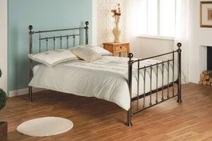 Limelight Libra Black Chrome Metal Bed