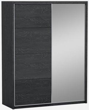 Ada Slate High Gloss 2 Door 1 Mirror Sliding Wardrobe