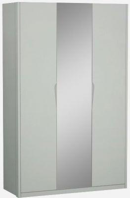 Affinity Cool Grey High Gloss 3 Door 1 Mirror Hinged Wardrobe