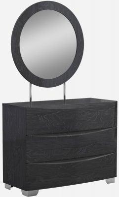 Lutyen Slate Grey High Gloss 3 Drawer Dresser