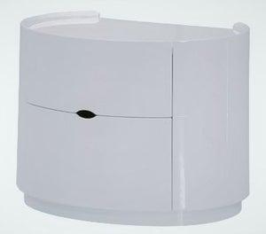 Neptune White High Gloss Bedside Cabinet