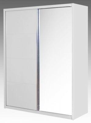 Neptune White High Gloss Sliding Wardrobe - 1 Door Mirror