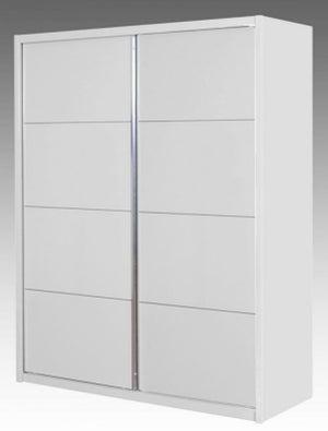Neptune White High Gloss Sliding Wardrobe - 2 Door