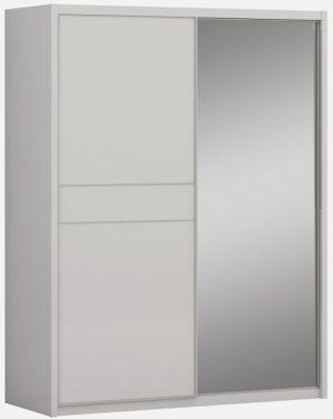 Sabron Cashmere High Gloss 2 Door 1 Mirror Sliding Wardrobe