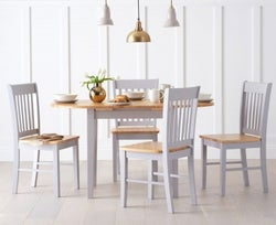 Mark Harris Alaska Butterfly Extending Dining Table and 2 Chairs - Oak and Grey