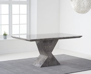 Mark Harris Allen Grey Engineered Marble 160cm Dining Table