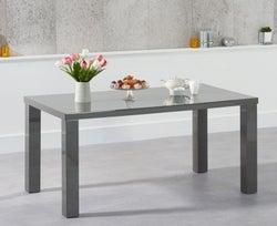 Mark Harris Ava Dark Grey High Gloss Medium Dining Table