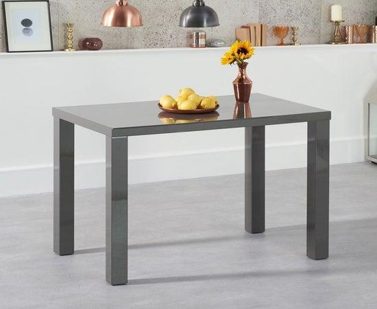 Mark Harris Ava Dark Grey High Gloss Small Dining Table