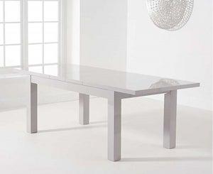 Mark Harris Ava Light Grey High Gloss Extending Dining Table
