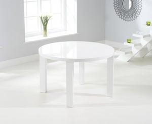 Mark Harris Ava White High Gloss Round Dining Table