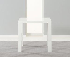 Mark Harris Ava White High Gloss Square Dining Table