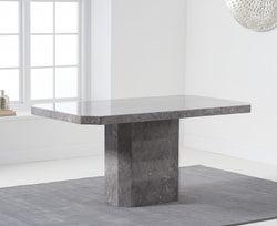 Mark Harris Becca Grey Engineered Marble 160cm Dining Table