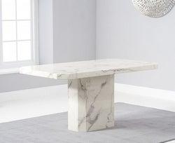 Mark Harris Becca White Engineered Marble 160cm Dining Table