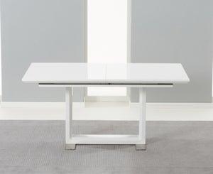 Mark Harris Beckley White High Gloss Extending Dining Table