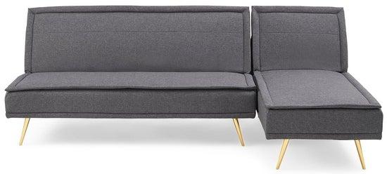 Mark Harris Breva Grey Linen 3 Seater Corner Chaise Sofa Bed