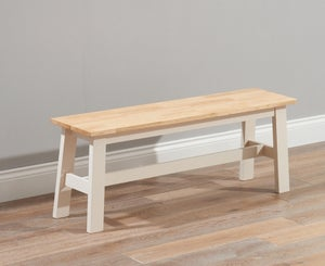 Mark Harris Chichester Oak and Cream Large Dining Bench
