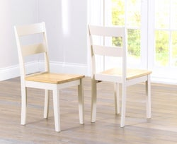 Mark Harris Chichester Oak and Cream Dining Chair (Pair)