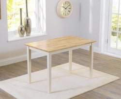 Mark Harris Chichester Oak and Cream Dining Table