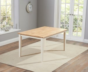 Mark Harris Chichester Oak and Cream Large Dining Table