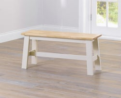 Mark Harris Chichester Oak and Cream Dining Bench