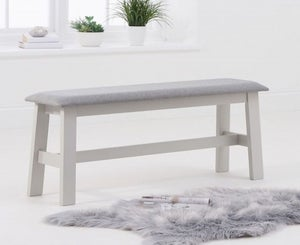 Mark Harris Chichester Large Grey Padded Bench