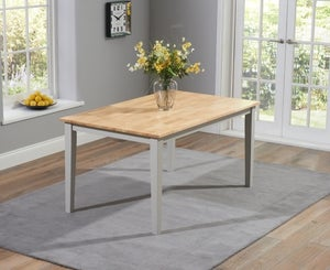 Mark Harris Chichester Oak and Grey Large Dining Table