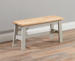 Mark Harris Chichester Oak and Grey Dining Bench