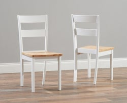 Mark Harris Chichester Oak and White Dining Chair (Pair)