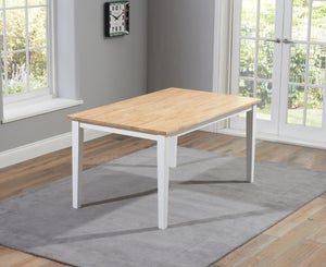 Mark Harris Chichester Oak and White Large Dining Table