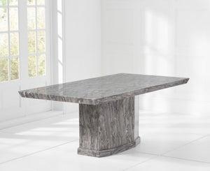 Mark Harris Como Grey Engineered Marble Large Dining Table