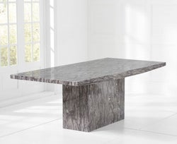 Mark Harris Coruna 160cm Grey Marble Dining Table