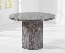 Mark Harris Coruna 110cm Grey Marble Round Dining Table