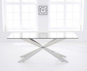 Mark Harris Jazz Dining Table - Glass and Chrome