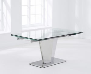 Mark Harris Lucille Extending Dining Table - Glass and Chrome