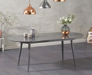 Mark Harris Opel Grey Gloss Extending Dining Table