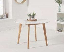 Mark Harris Robina Round Dining Table - Oak and White