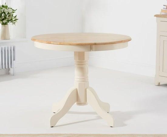 Mark Harris Elstree Cream and Oak Round Dining Table