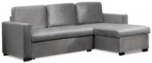 Mark Harris Ellie Grey Velvet Reversible Chaise Sofa Bed