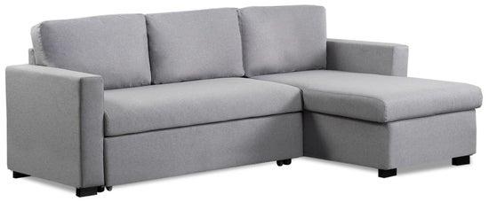 Mark Harris Ellie Grey Linen Reversible Chaise Sofa Bed