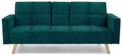 Mark Harris Erica Green Velvet 3 Seater Fold Down Sofa Bed