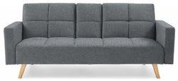 Mark Harris Erica Grey Linen 3 Seater Fold Down Sofa Bed