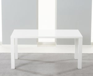 Mark Harris Hereford White High Gloss Dining Table