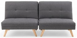 Mark Harris Izzy Grey Linen 3 Seater Fold Down Sofa Bed