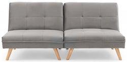 Mark Harris Izzy Grey Velvet 3 Seater Fold Down Sofa Bed