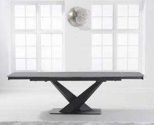 Mark Harris Jack Grey Ceramic 180cm Extending Dining Table