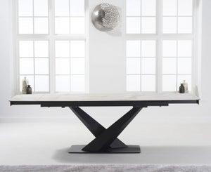 Mark Harris Jack White Ceramic 180cm Extending Dining Table