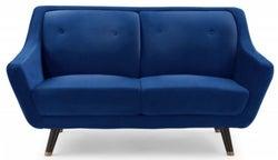 Mark Harris Laura Blue Velvet 2 Seater Sofa