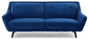 Mark Harris Laura Blue Velvet 3 Seater Sofa