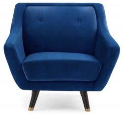Mark Harris Laura Blue Velvet Armchair