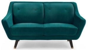 Mark Harris Laura Green Velvet 2 Seater Sofa
